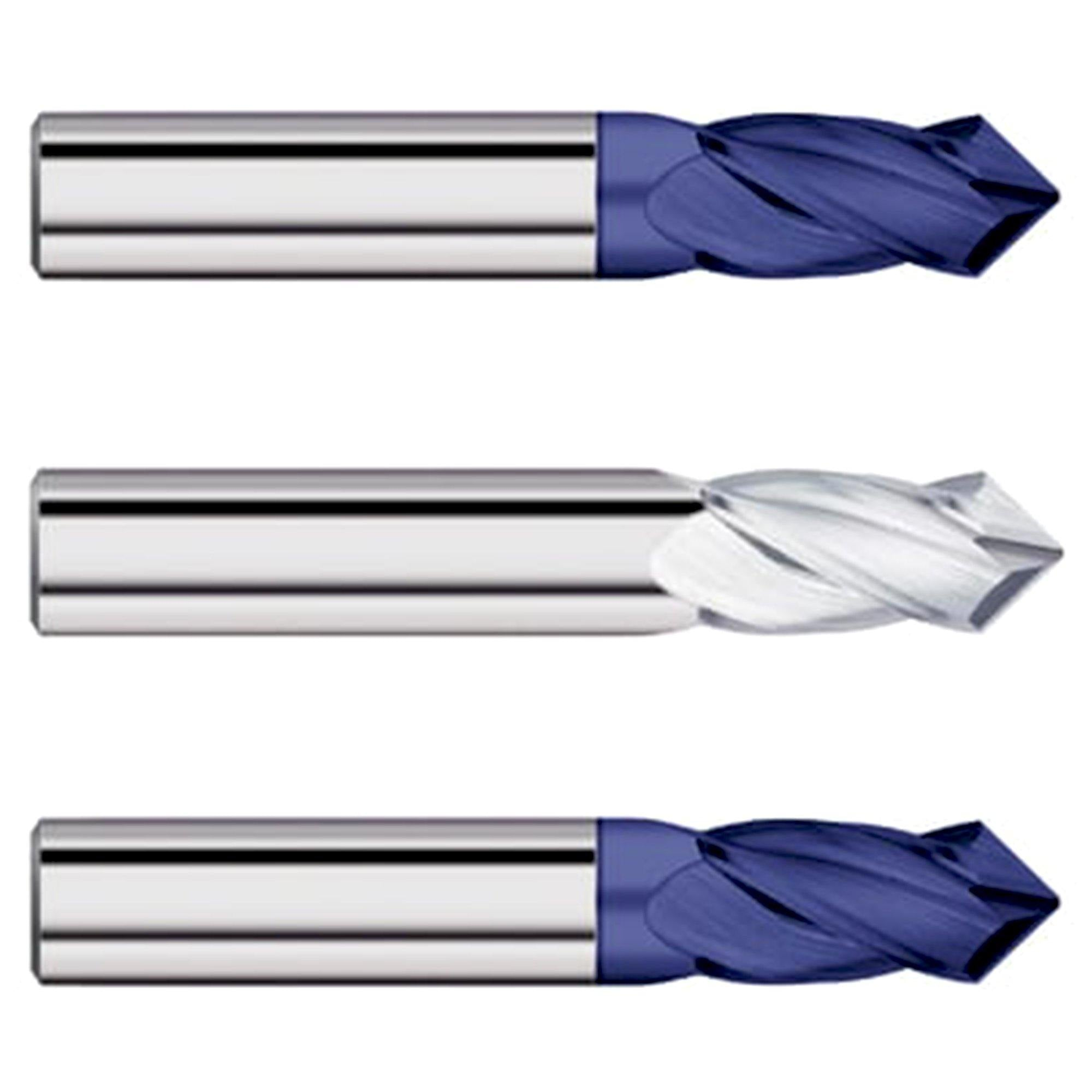 "(3 Pack) 3/4"" Dia. x 1-1/2"" LOC x 4"" Carbide Drill End Mill - End Mill Store"