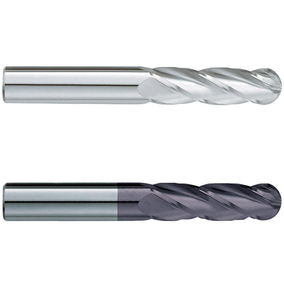"(2 Pack) 1"" x 5"" x 8"" Super Long Ballnose Carbide End Mill - End Mill Store"
