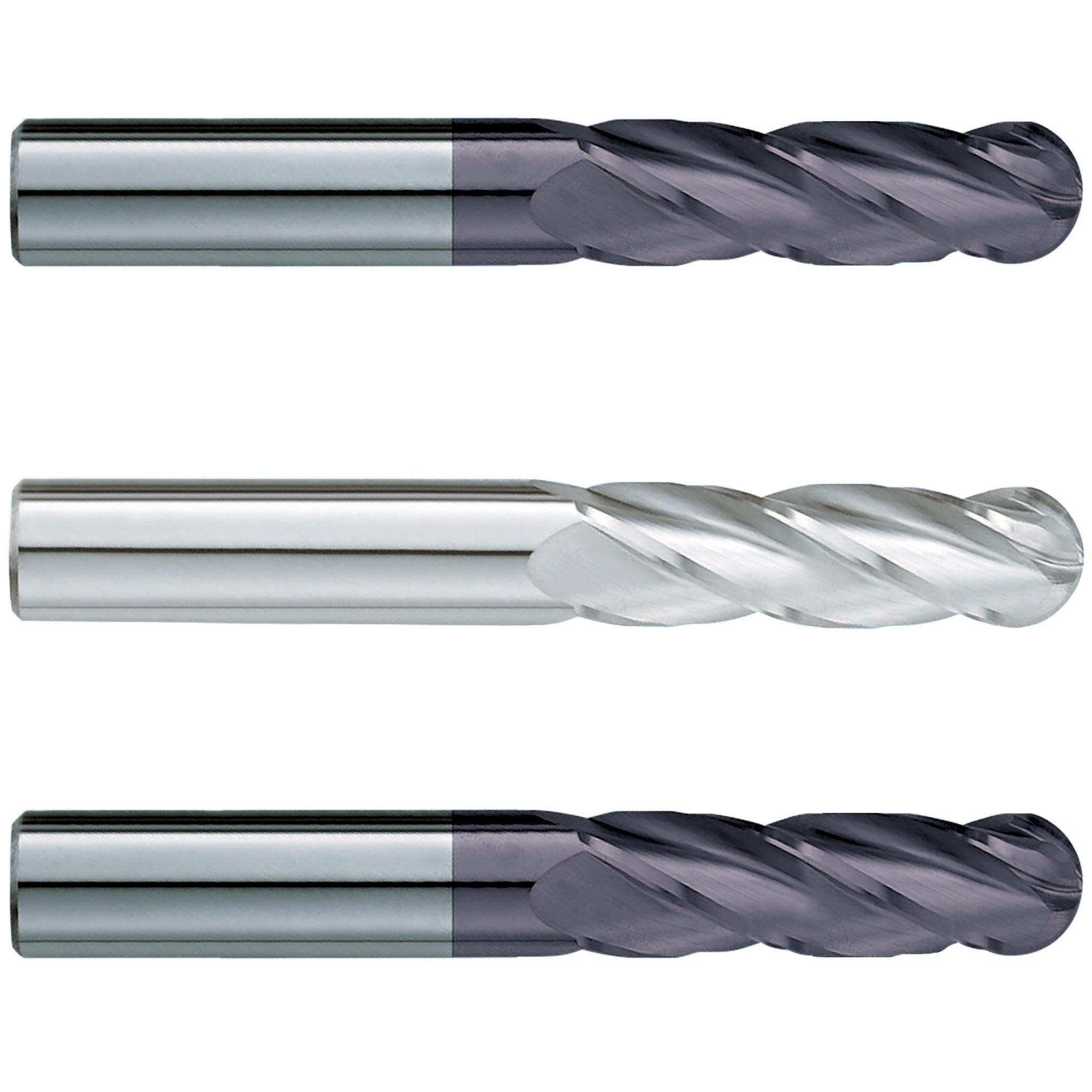 "(3 Pack) 5/8"" x 3"" x 6"" Extra Long Ballnose Carbide End Mill - End Mill Store"
