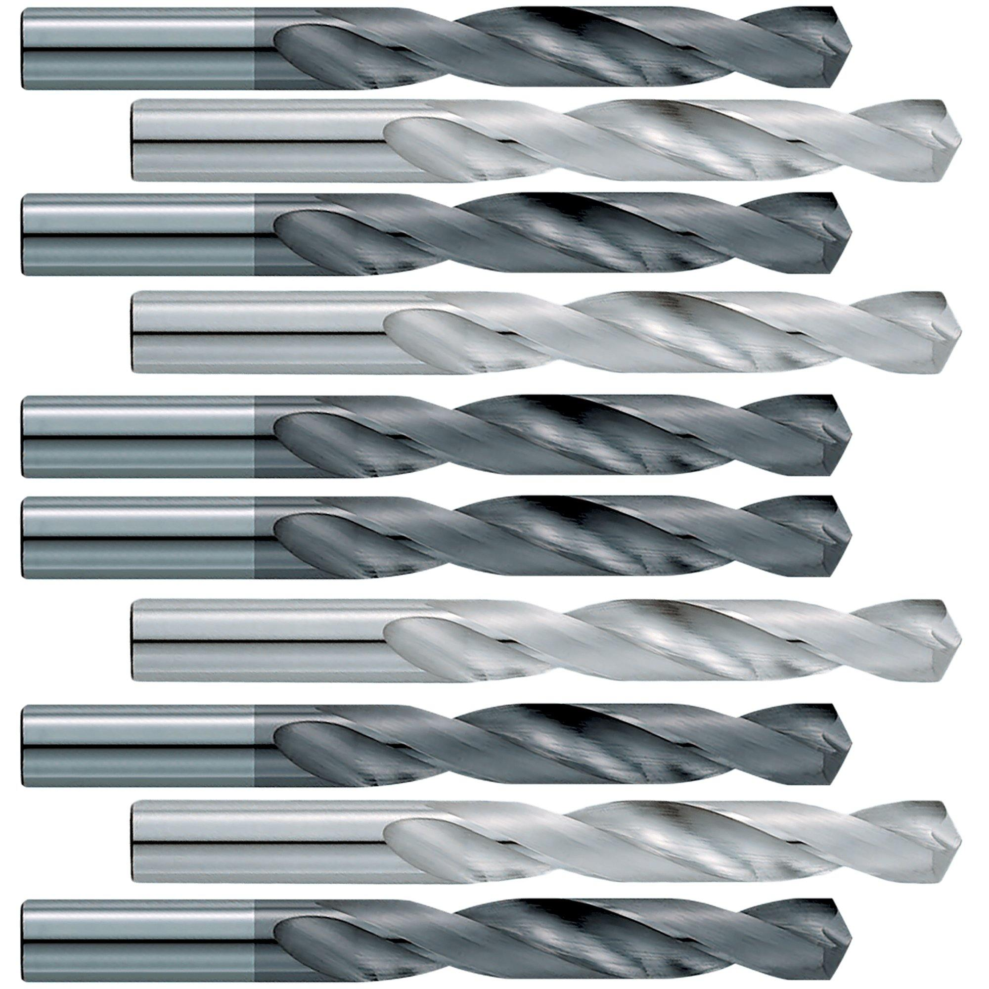 (10 Pack)  Size (N) .302 Jobber Length Carbide Drill Bits - End Mill Store