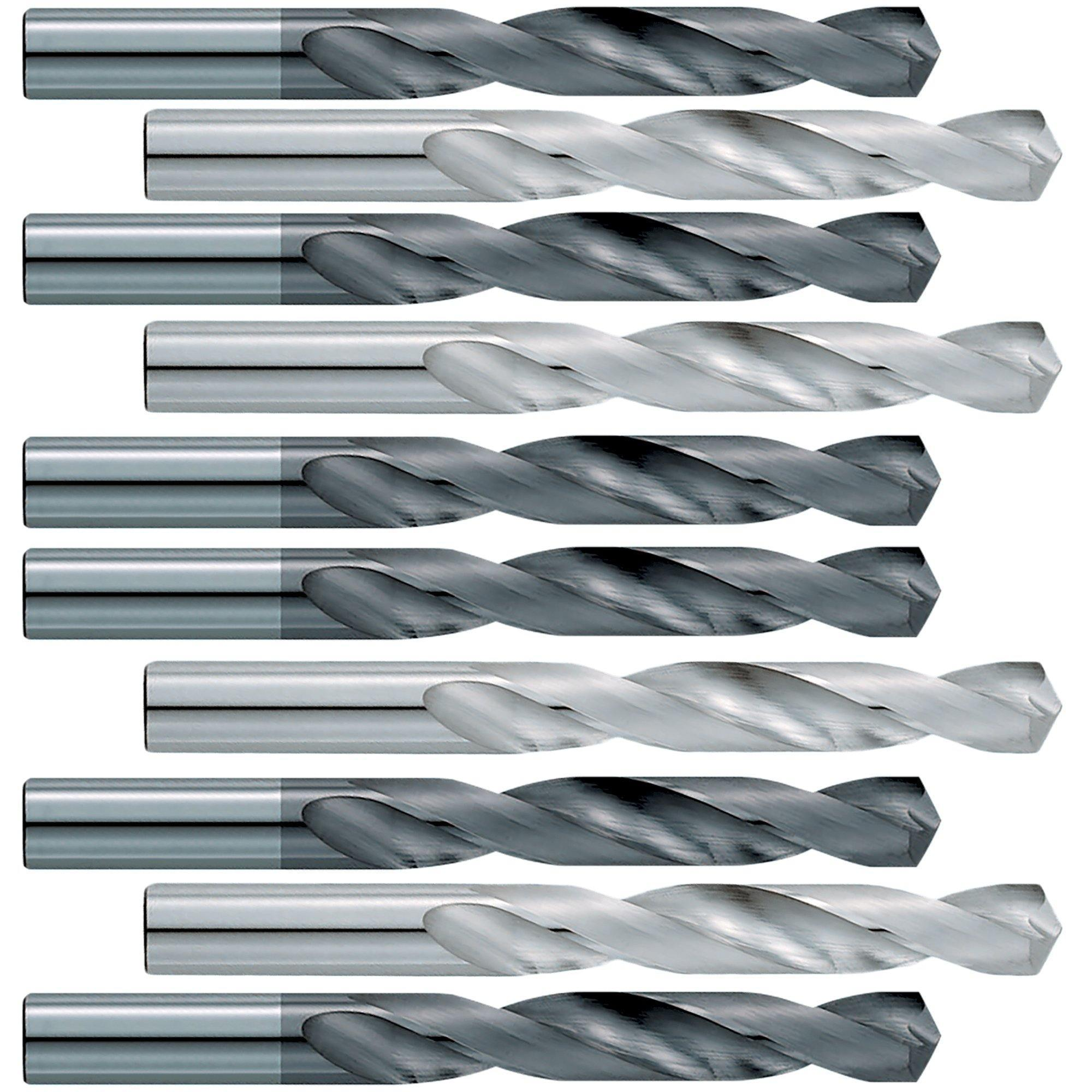 #45  (10 Pack)  .082 Jobber Length Carbide Drill Bits - End Mill Store
