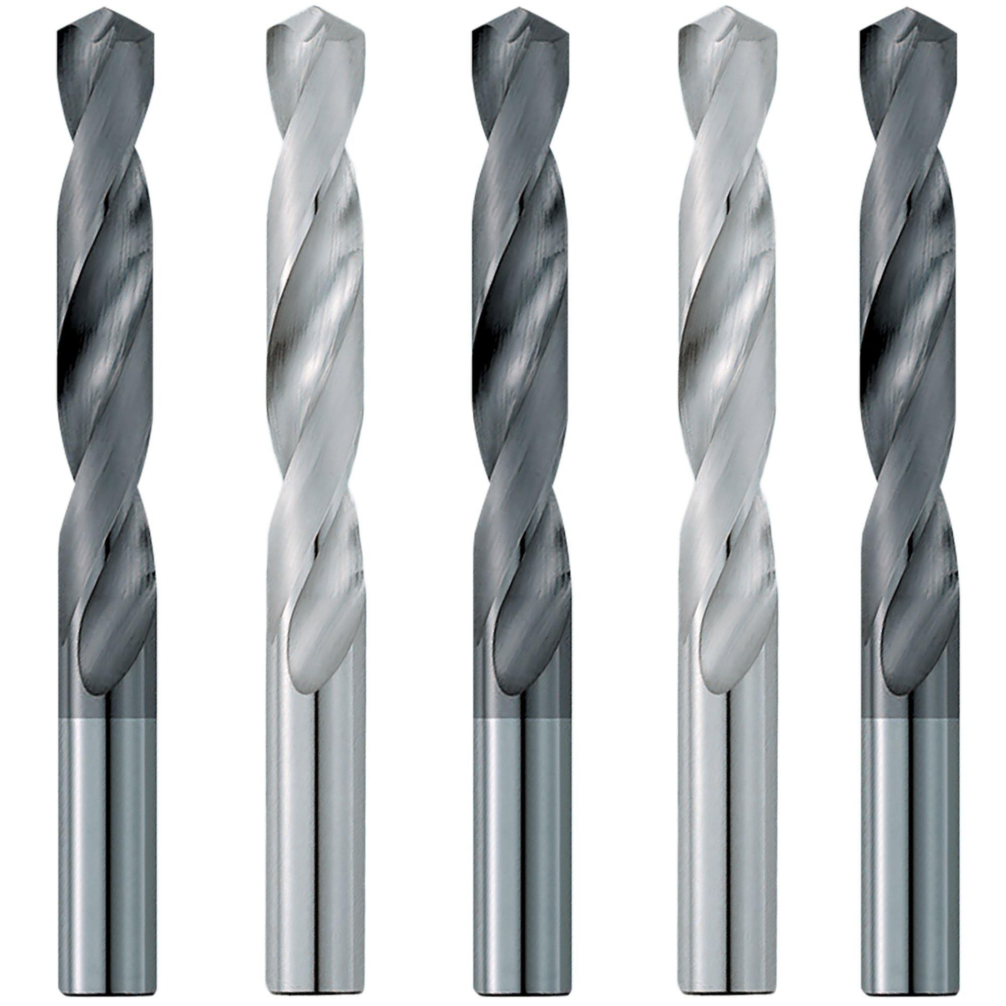 "(5 Pack) 9/16"" Dia. x 3-1/4"" LOF x  5"" OAL Carbide Drill Bits - End Mill Store"