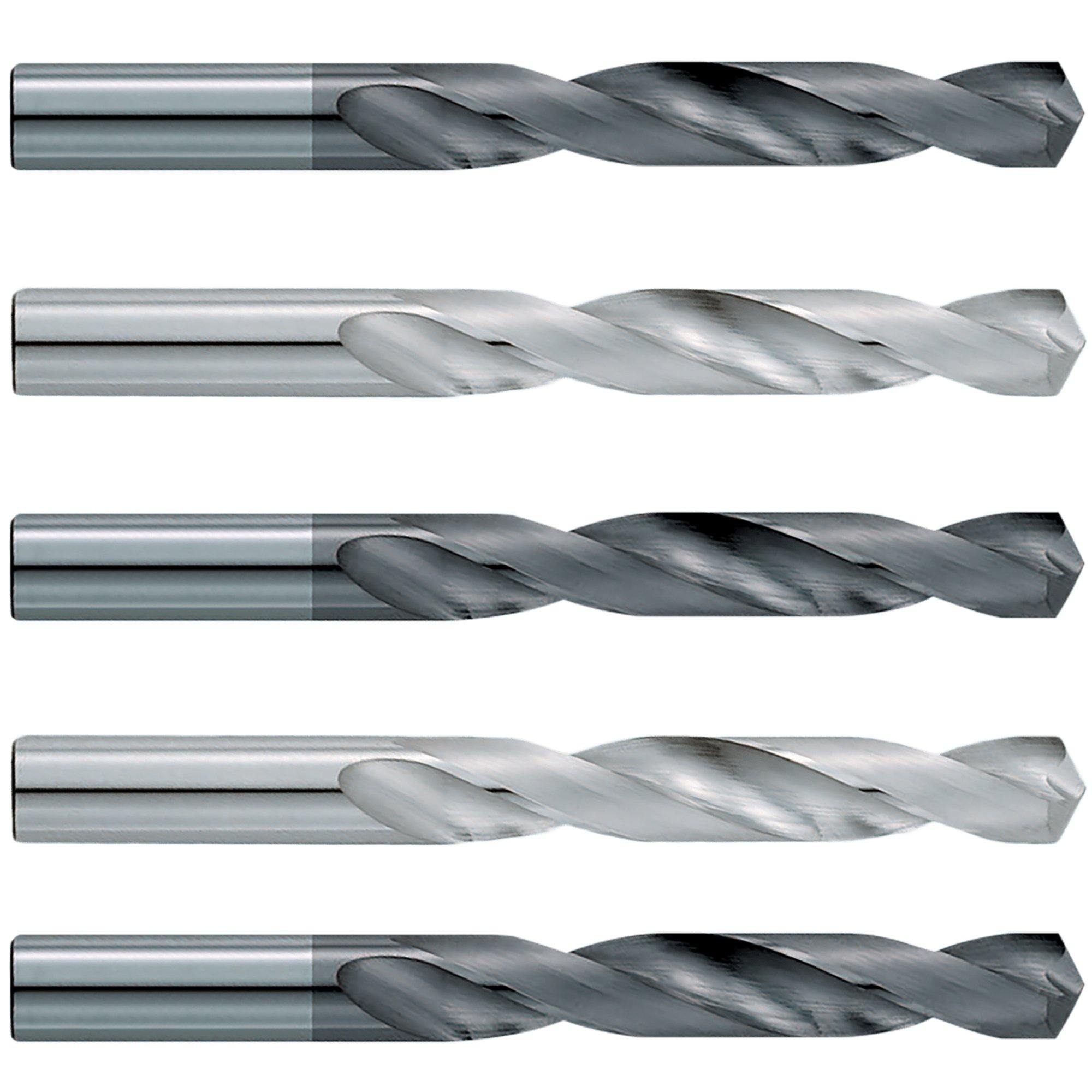 "(5 Pack)  Size (V)  .377 x 2-3/4"" LOF x  4-1/4"" OAL Carbide Drill Bits - End Mill Store"