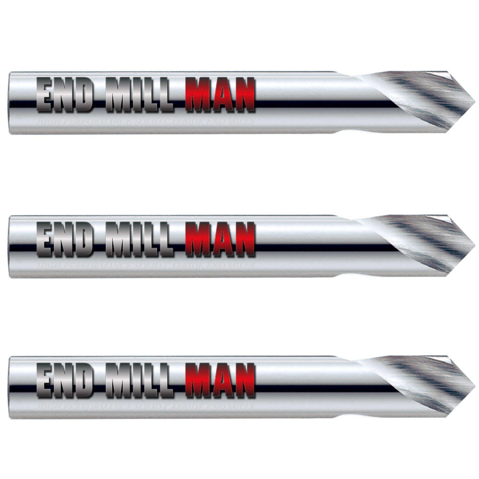 "(3 Pack) 5/8"" x 1-1/4"" x 3-1/2"" Carbide Spotting Drills - End Mill Store"