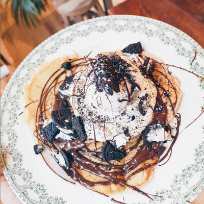 creme brussels homemade oreo pancakes