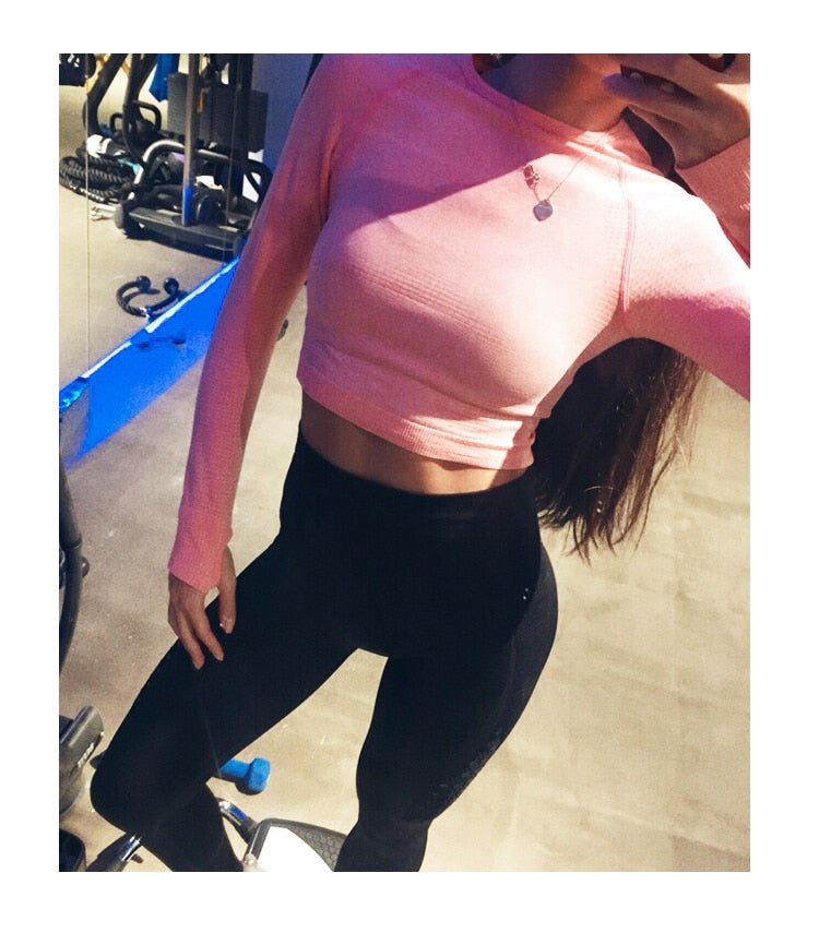 Quick Dry Women Fitness Cropped Top