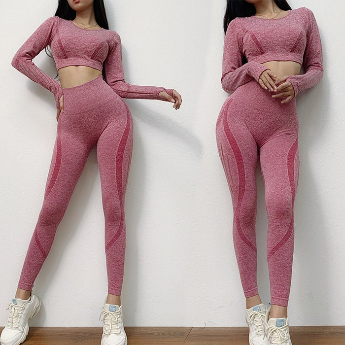 High Waist  Leggings Yoga Set