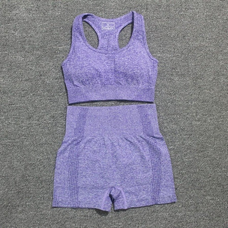 Seamless Yoga Set Sports Suits