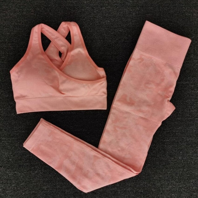 Camouflage Camo Yoga Set For Women