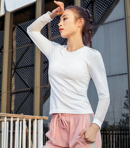 Long Sleeve With Thumb Holes Yoga Tops
