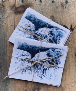 ocean note cards - Set of 5 Prints