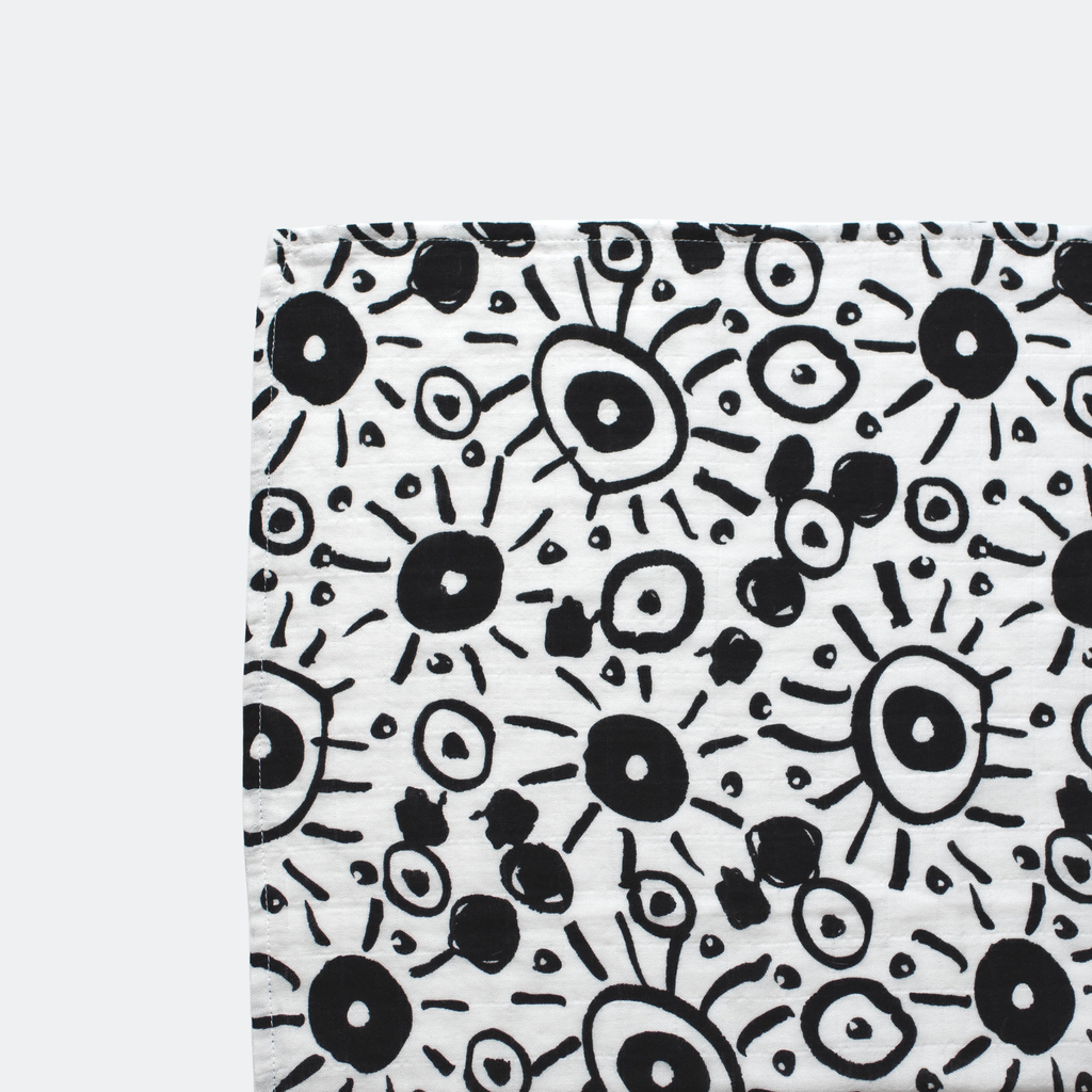 Black and White Baby Blanket | Muslin lightweight fabric | Etta Loves