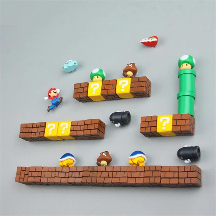 Super Mario Bros Fridge Magnets
