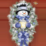 A Warm Winter Welcome Snowman Wreath - 3D-Painting