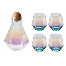 Load image into Gallery viewer, Glass Prism Carafe Decanter Set
