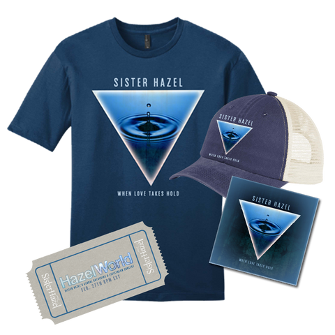 Livestream Ticket + T-Shirt + Beach Wash Cap + Patch