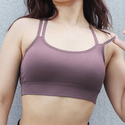 Double Strap Cross Over Workout Bra