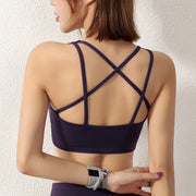 Strappy Double Layer Yoga Bra