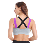 Color Blocking Wide-Strap Bra