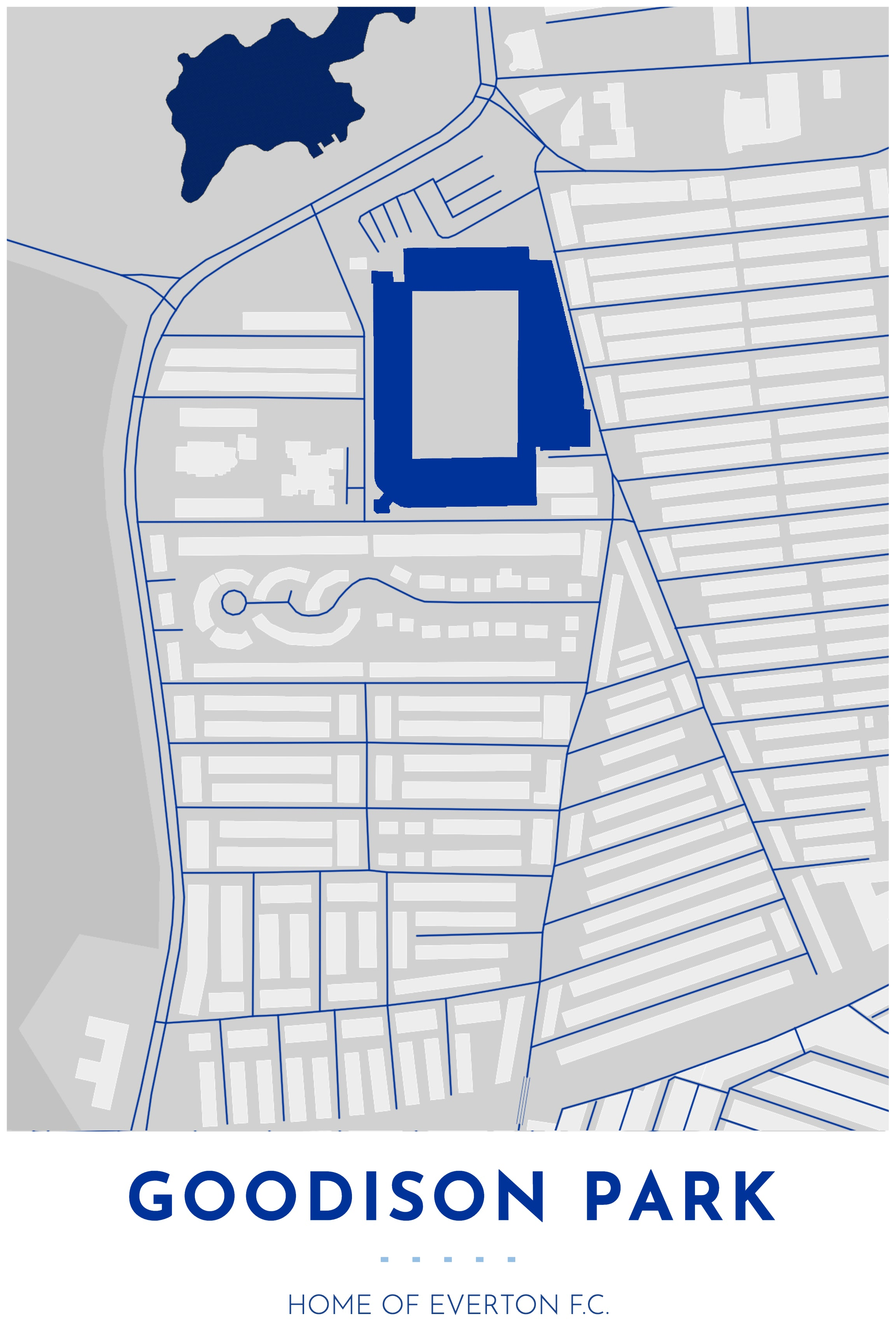 everton goodison park map