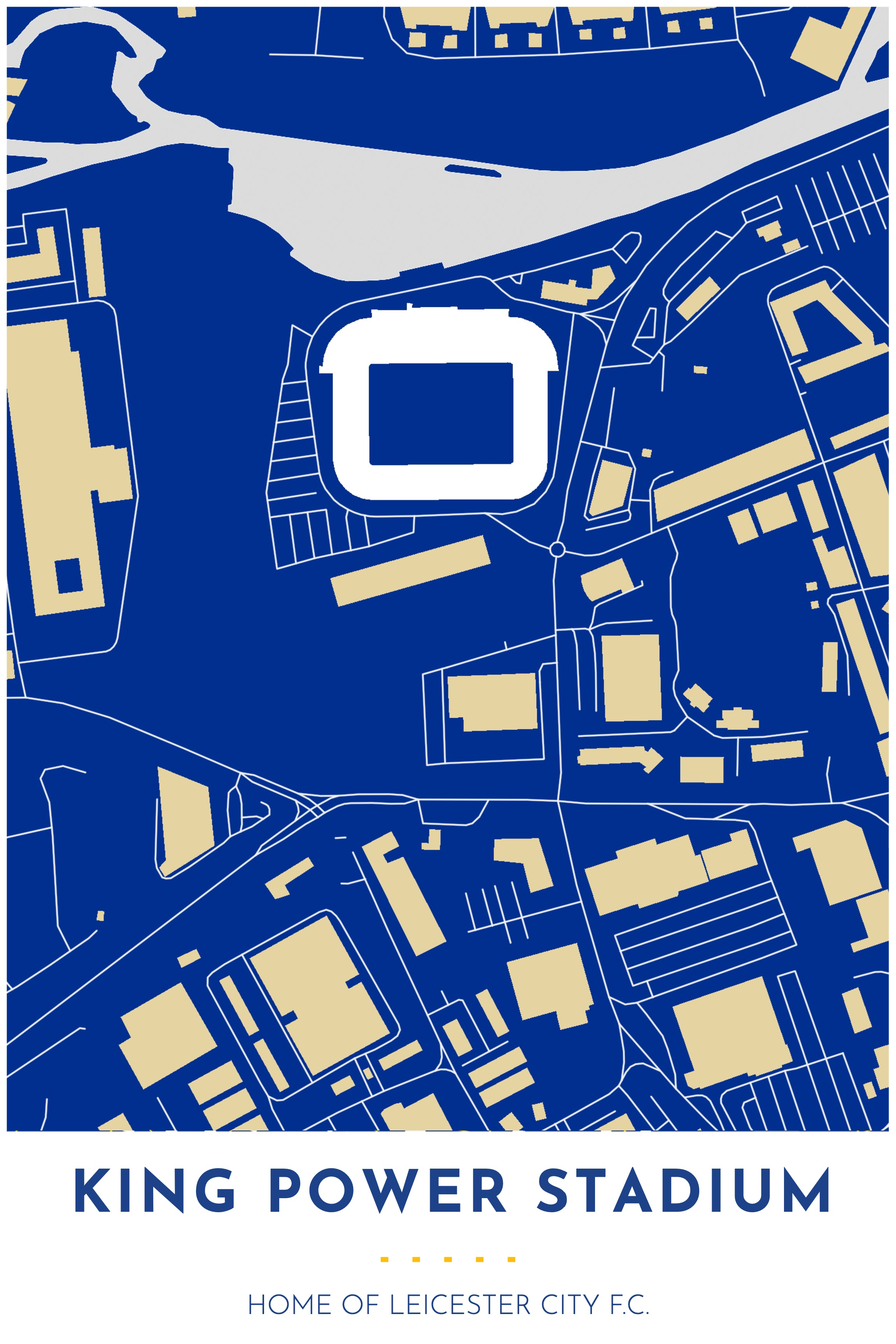 leicester city king power stadium map