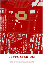 Load image into Gallery viewer, San Francisco 49ers Map - Levi's Stadium - Tapestry Maps