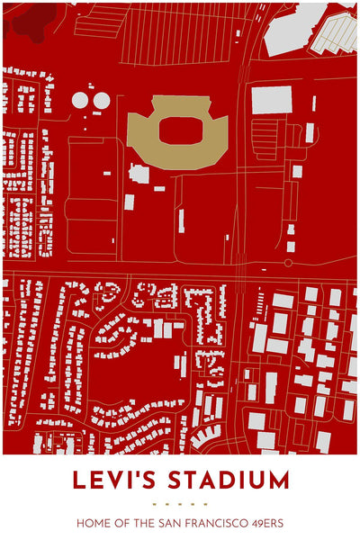 Map of Levi's Stadium in Santa Clara