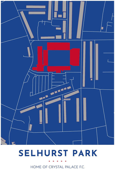 Crystal Palace Map - Selhurst Park - Tapestry Maps