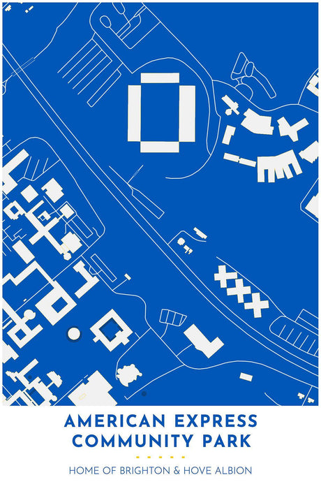 Brighton Hove & Albion Map - American Express Community Park - Tapestry Maps