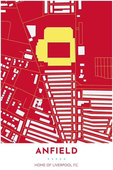 Liverpool Map - Anfield - Tapestry Maps