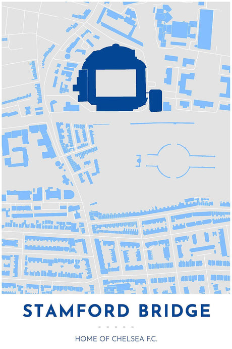 Chelsea F.C. Map - Stamford Bridge - Tapestry Maps