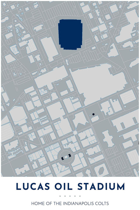 Indianapolis Colts Map - Lucas Oil Stadium - Tapestry Maps