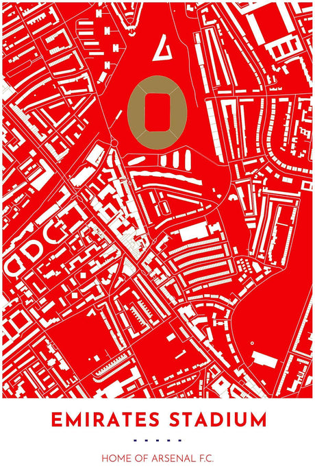 Arsenal F.C. Map Emirates Stadium