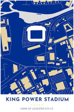 Load image into Gallery viewer, Leicester City F.C. - King Power Stadium - Tapestry Maps