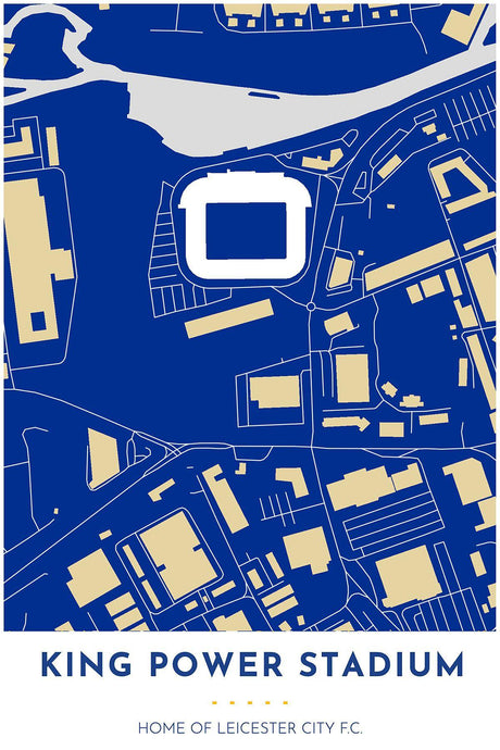 Leicester City F.C. - King Power Stadium - Tapestry Maps