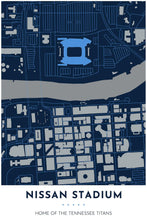 Load image into Gallery viewer, Tennessee Titans Map - Nissan Stadium - Tapestry Maps