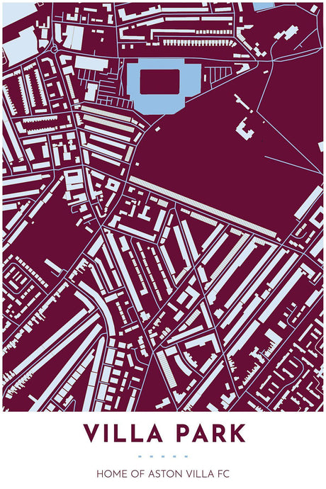 Aston Villa Map - Villa Park - Tapestry Maps