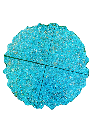 Blue Matted Resin Coasters