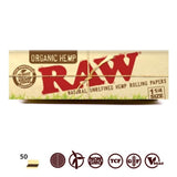 RAW Organic Hemp 1 1/4 Size Rolling Papers - 50 Leaves