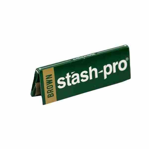 Stash-Pro Brown 1 1/4 Size Rolling Papers
