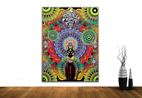 Psychedelic People Ahead of You Wall Hanging
