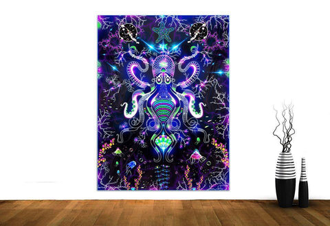 Electric Octopus Wall Hanging