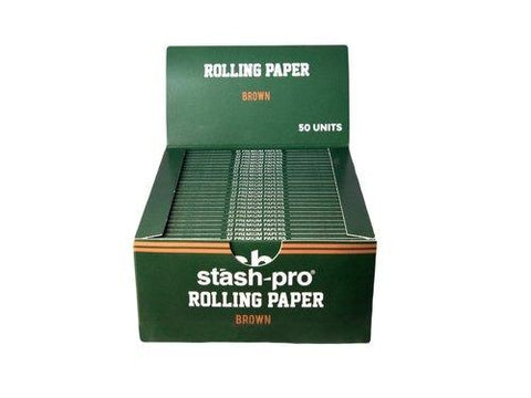 Stash-Pro King Size Slim Brown Rolling Papers - Box of 50