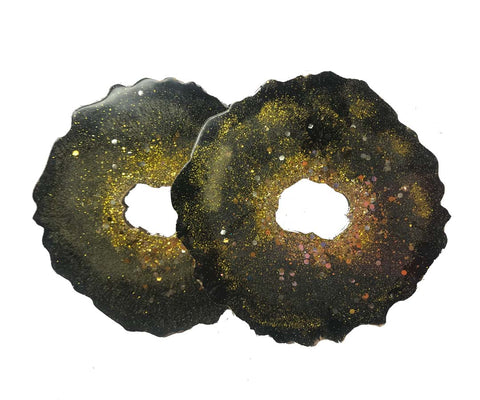 Black Universe Resin Coasters