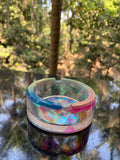 Rainbow Glow in the Dark Resin Ashtray