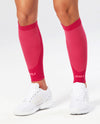 Performance Run Calf Sleeve - Hot Pink/Hot Pink