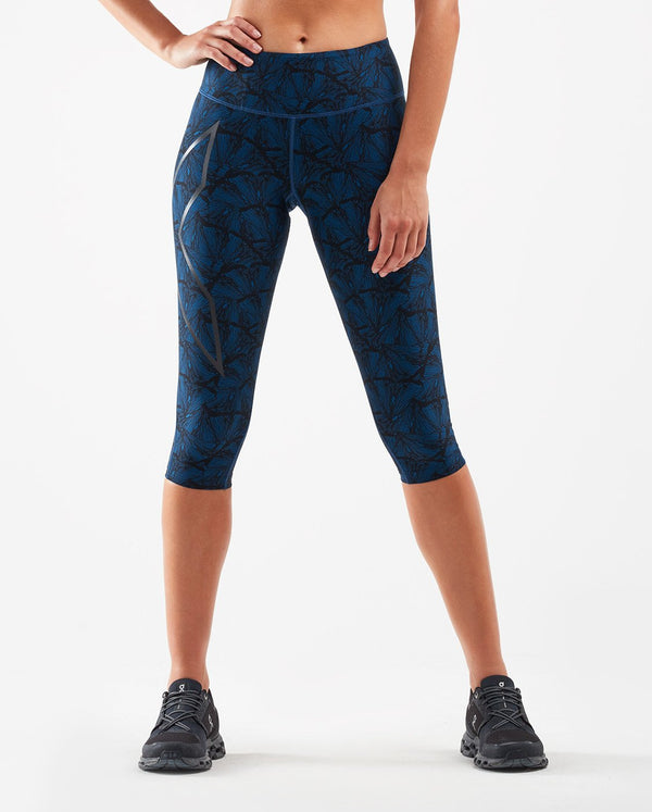 Print Mid-Rise Compression 3/4 Tights