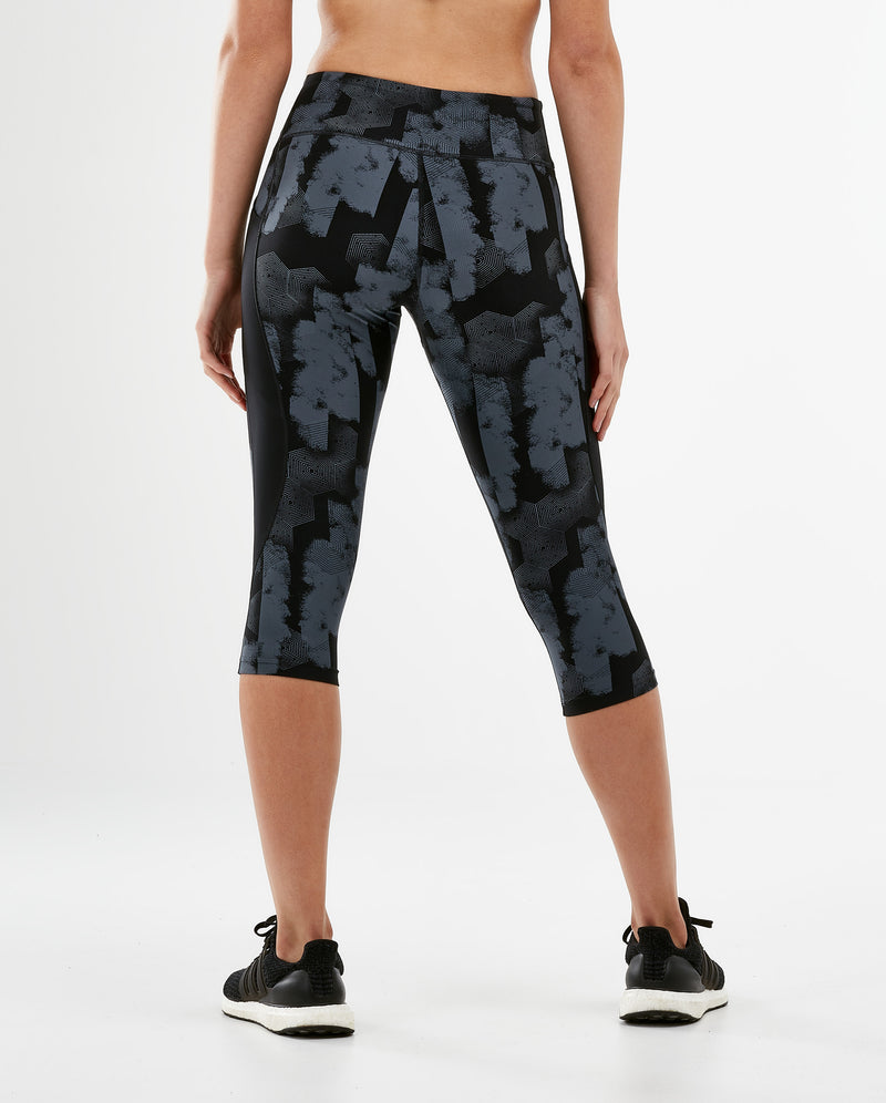 Print Mid-Rise Pocket 3/4 Compression Tights