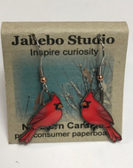 Jabebo Northern Cardinal Earrings