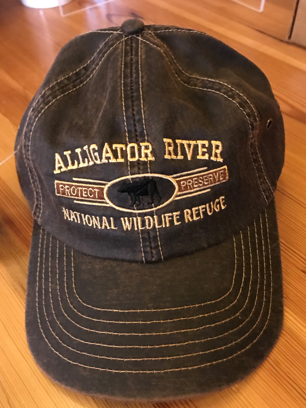 Alligator River National Wildlife Refuge Bear Logo Brown Hat